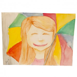 akvarell_glad i regnet