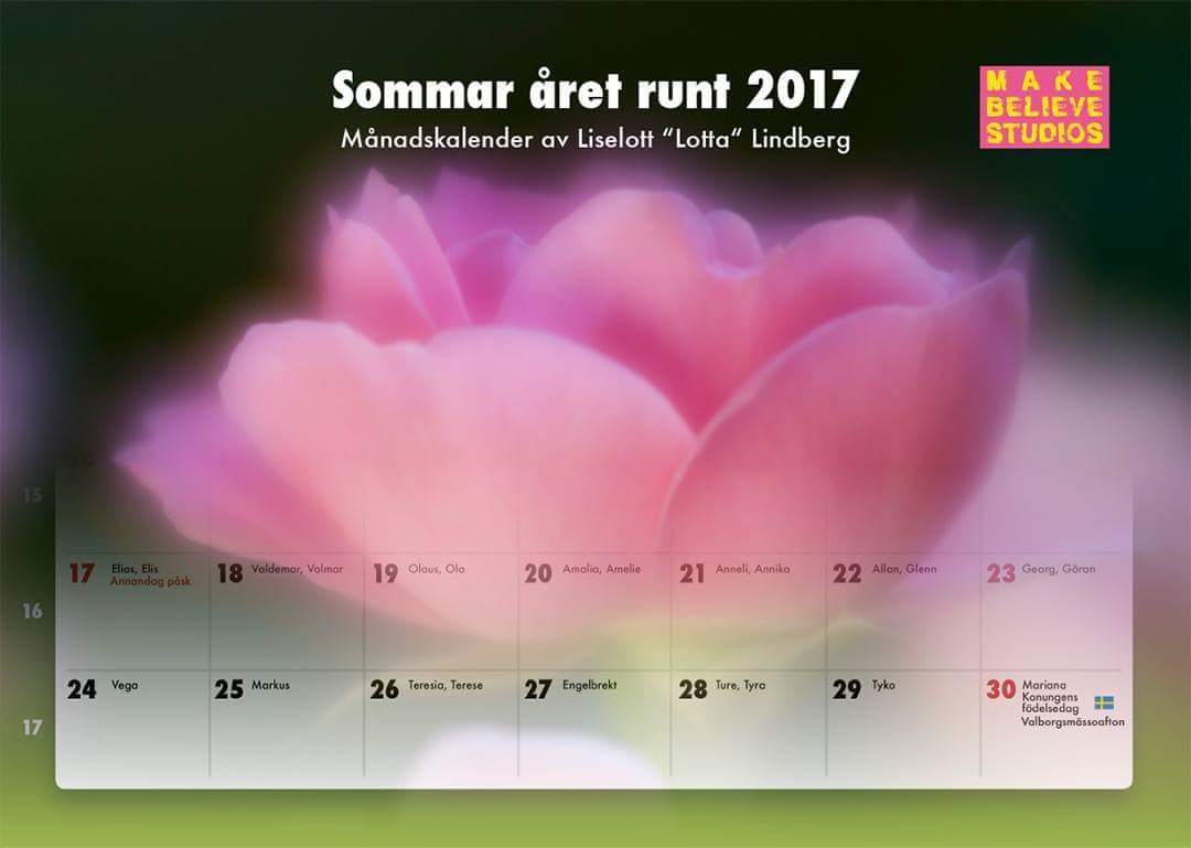 Kalendern för 2017 är på tryck!